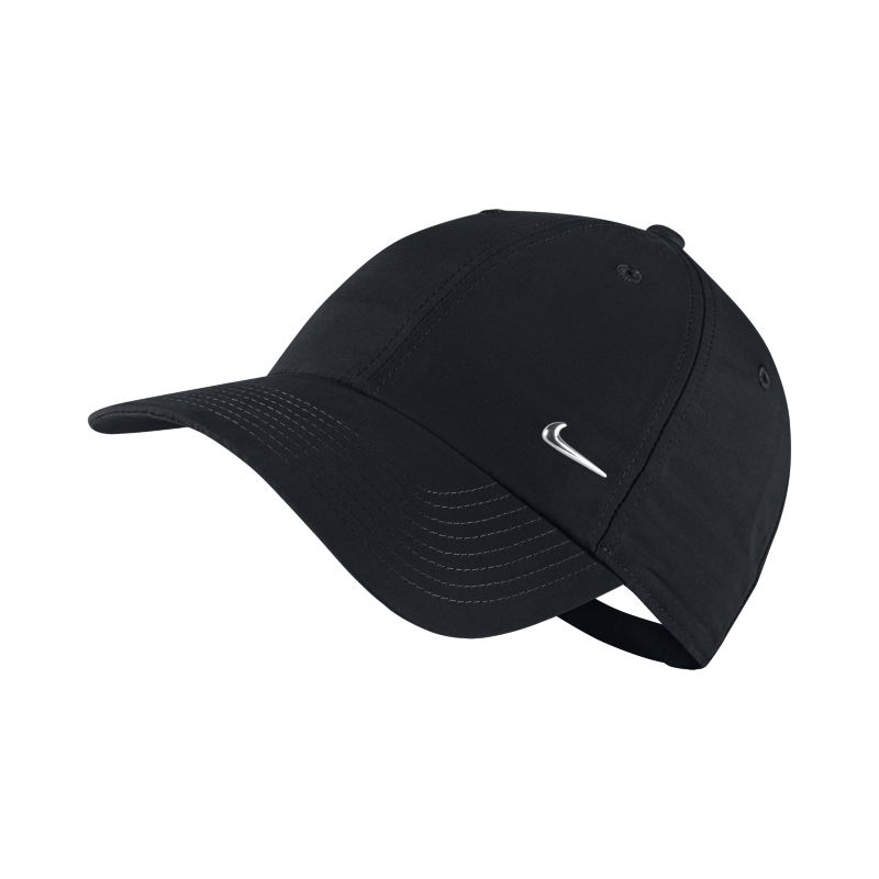 Nike Sportswear Metal Swoosh Logo Adjustable Hat - Black
