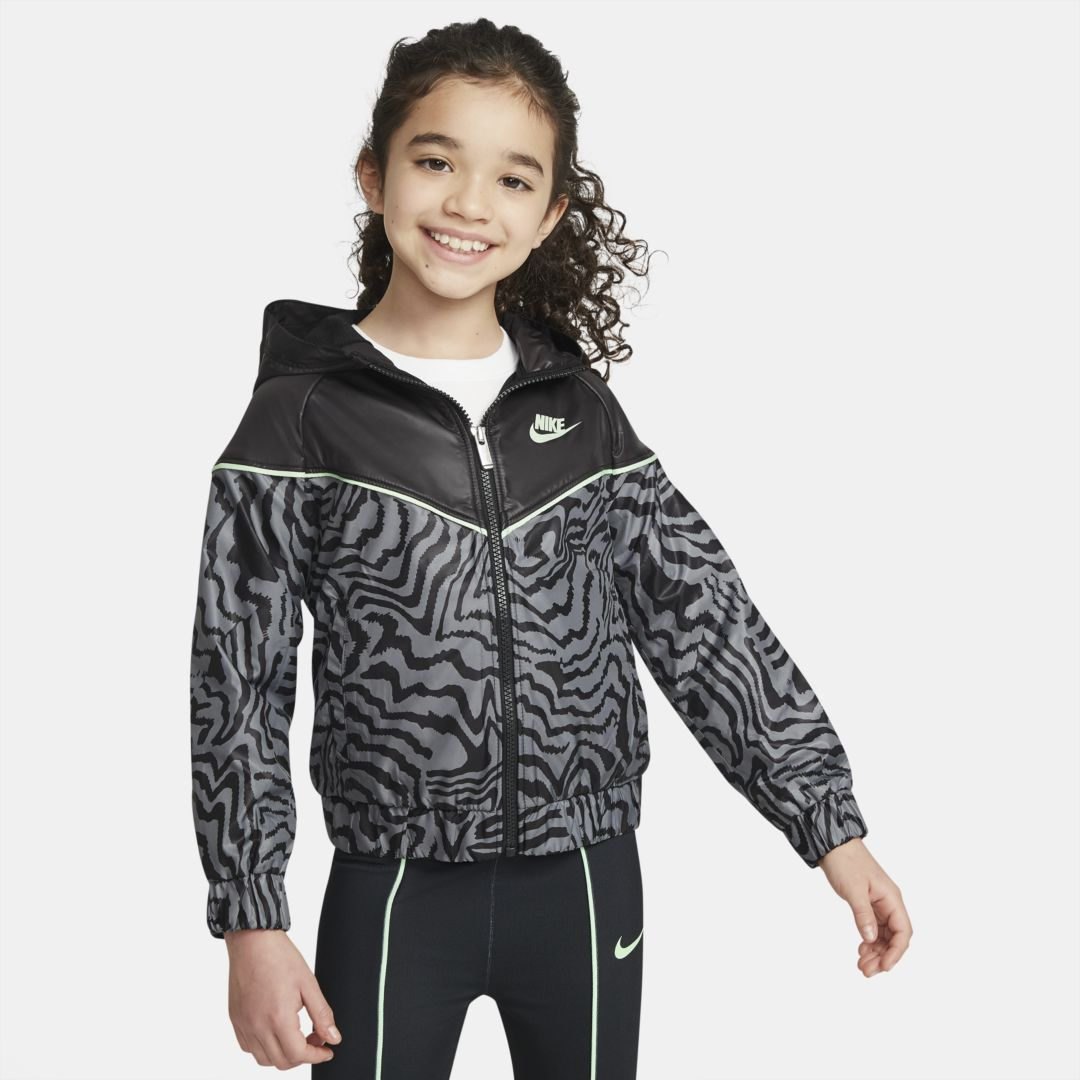 Nike Jackets SPORTSWEAR WINDRUNNER LITTLE KIDS' FULL-ZIP JACKET (BLACK)