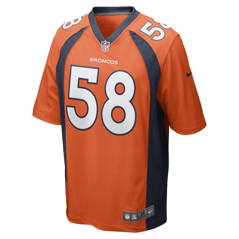 Nike NFL Denver Broncos (Von Miller) Men's American Football Home Game Jersey - Orange