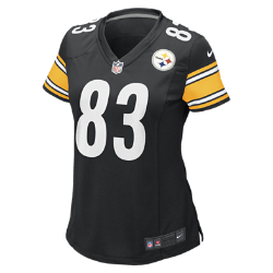 Nike NFL Pittsburgh Steelers Heath Miller Women's Football Home Game Jersey - Black, XS