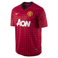 Nike 2012/13 Manchester United Replica Short-Sleeve Men's Soccer Jersey - Diablo Red, S