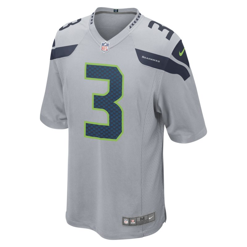 Nike NFL Seattle Seahawks (Russell Wilson) Men's American Football Alternate Game Jersey - Grey