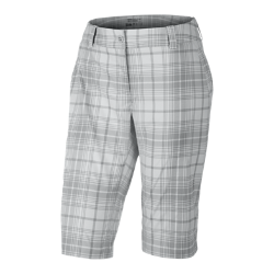 Nike Modern Rise Plaid Women's Golf Shorts - Stadium Grey, 12
