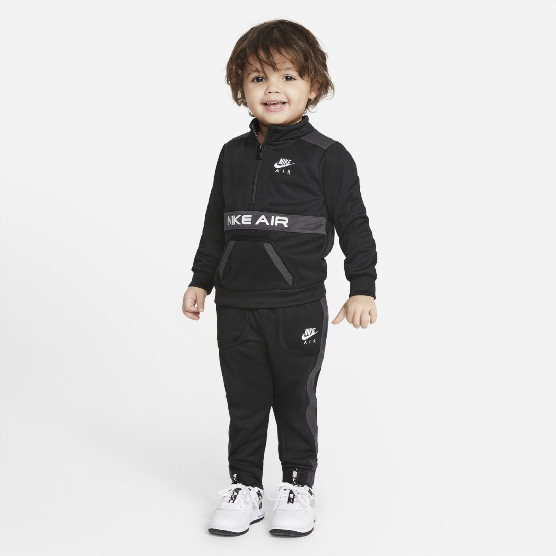 Nike AIR BABY (12-24M) TOP AND JOGGERS SET (BLACK)