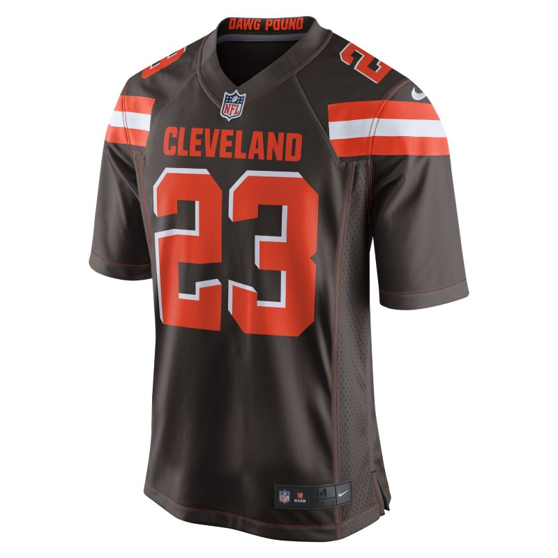 NFL Cleveland Browns (Joe Haden) Men`s American Football Home Game Jersey - Brown