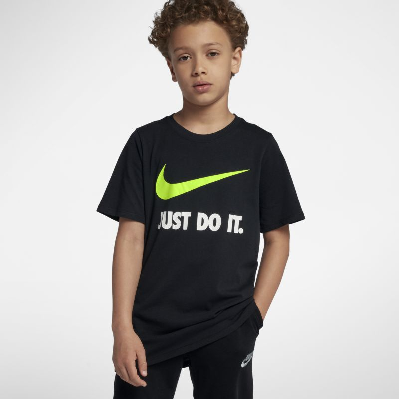 Nike Just Do It Swoosh Older Kids' (Boys') T-Shirt - Black