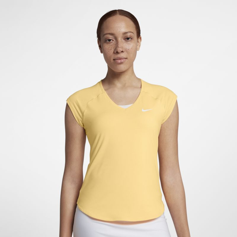 NikeCourt Pure Women's Tennis Top - Orange
