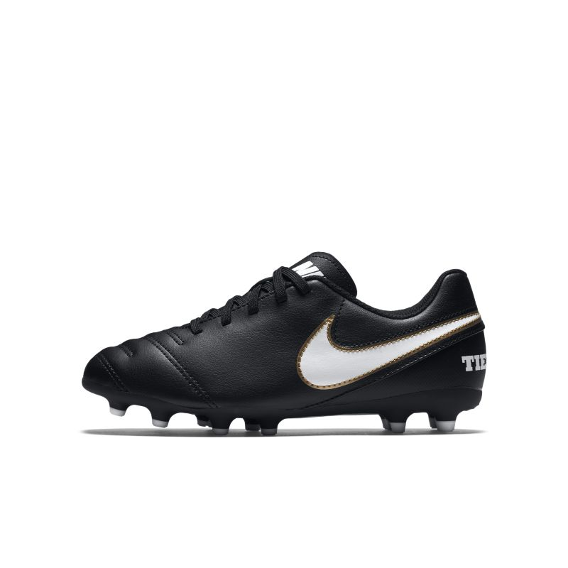 Nike Jr. Tiempo Rio III Younger/Older Kids'Firm-Ground Football Boot - Black