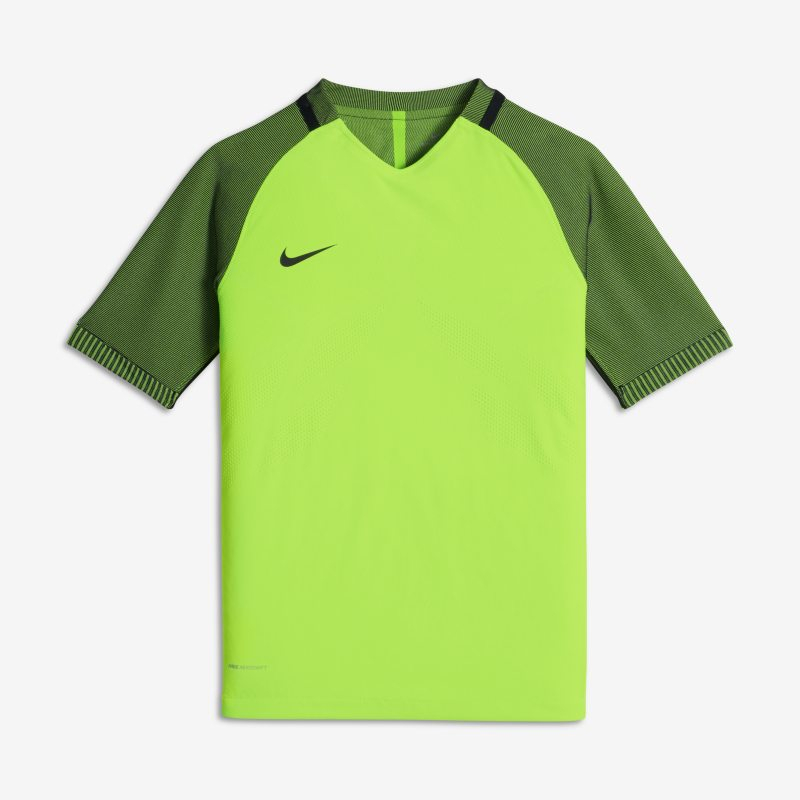 Nike Strike AeroSwift Kids' Short-Sleeve Football Top - Green