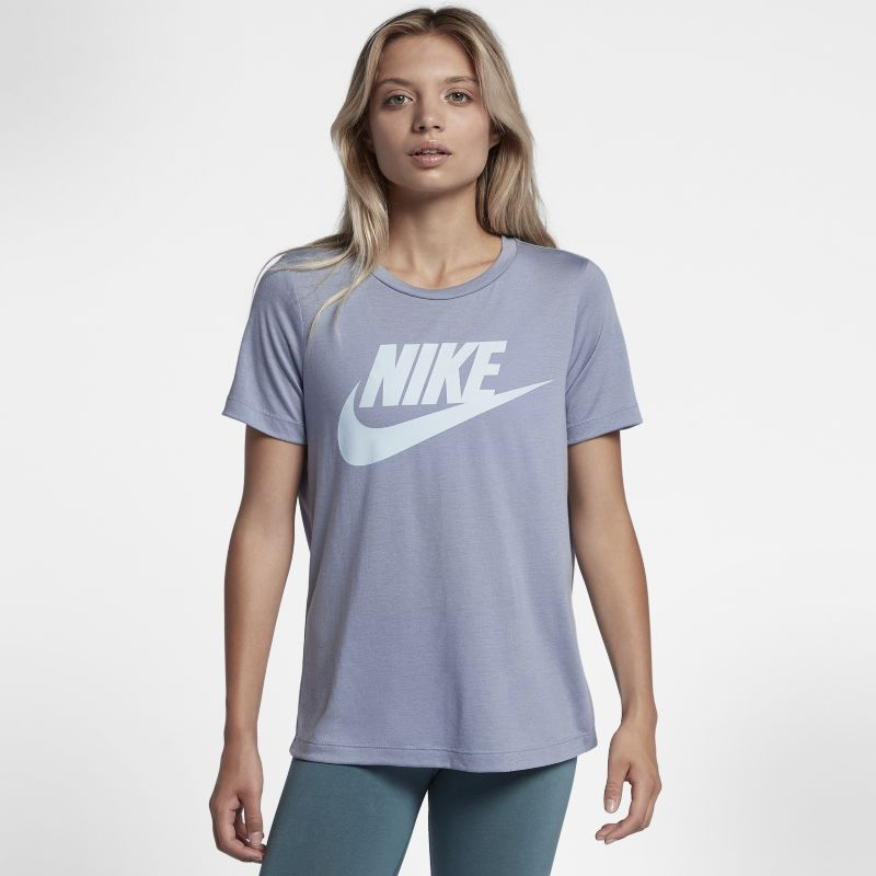 Nike Sportswear Essential Women's Logo Short-Sleeve Top - Grey