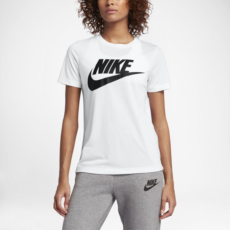 Nike Sportswear Essential Women's Logo Short-Sleeve Top - White