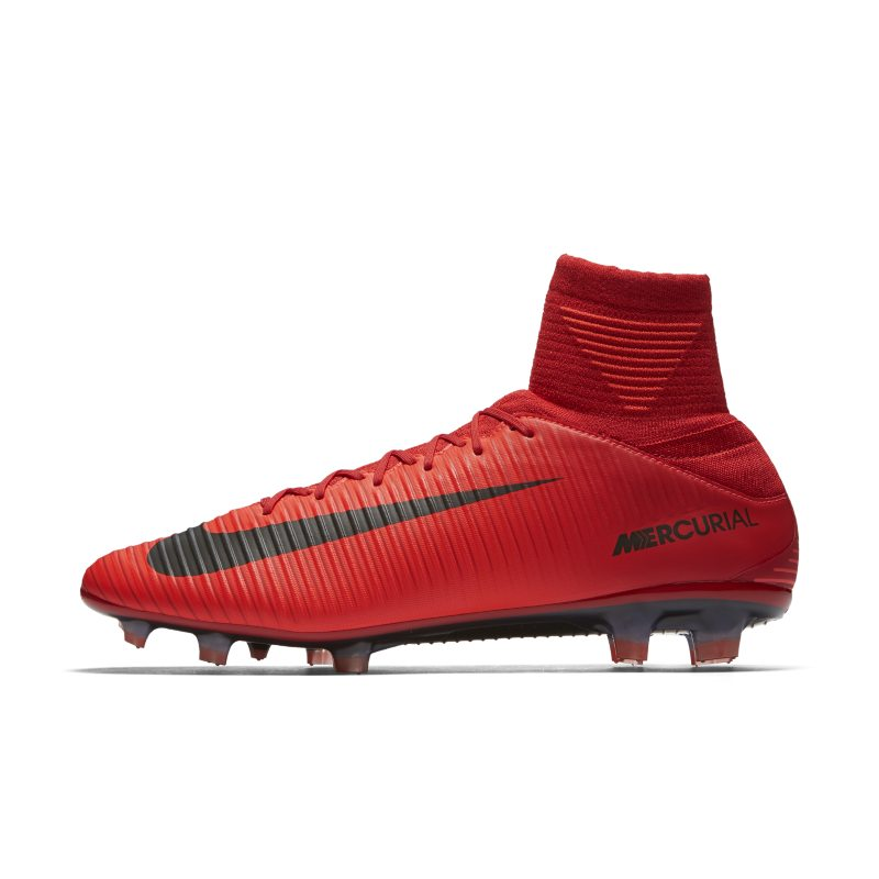 Nike Mercurial Veloce III Dynamic Fit Firm-Ground Football Boot - Red