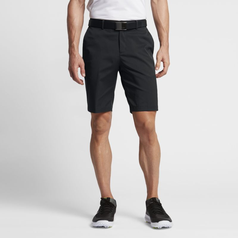 """Image of Nike Flat Front Men's 10.5""""(26.5cm approx.) Golf Shorts Black"""
