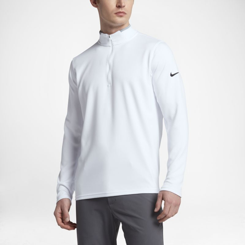 Nike Dri-FIT Half-Zip Men's Long-Sleeve Golf Top - White