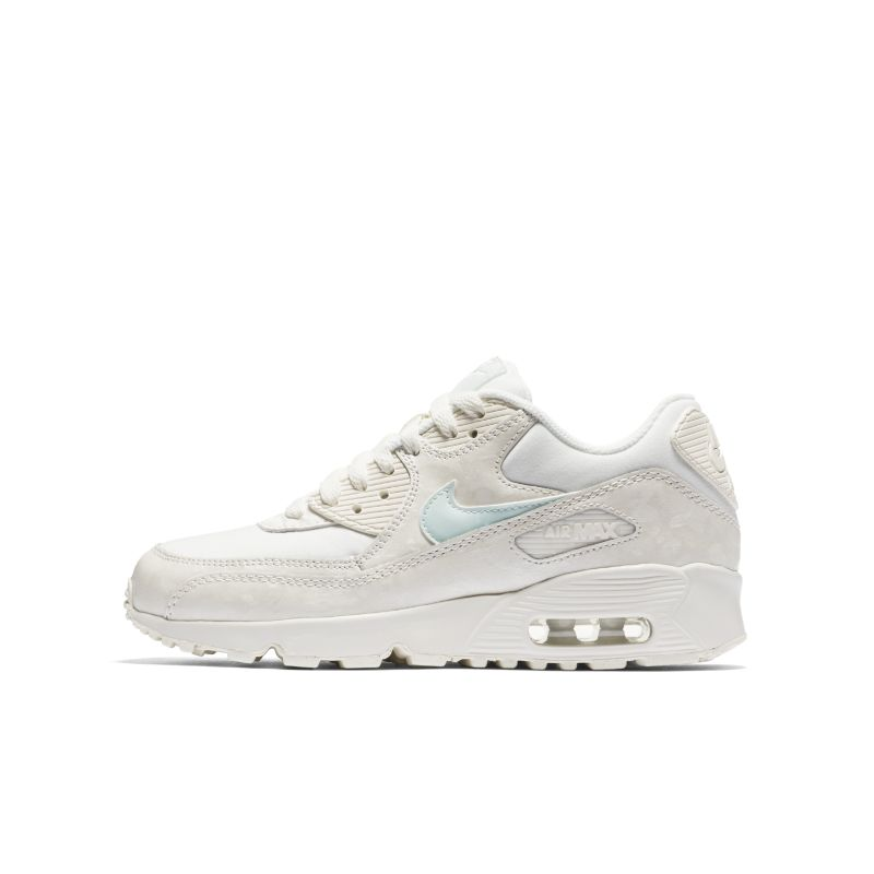 Nike Air Max 90 Mesh (3-6) Older Kids' Shoe - Cream