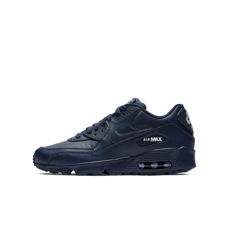 Nike Air Max 90 Leather Older Kids' Shoe - Blue