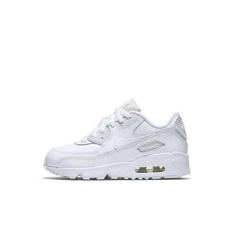 Image of Nike Air Max 90 Leather Men's Shoe White
