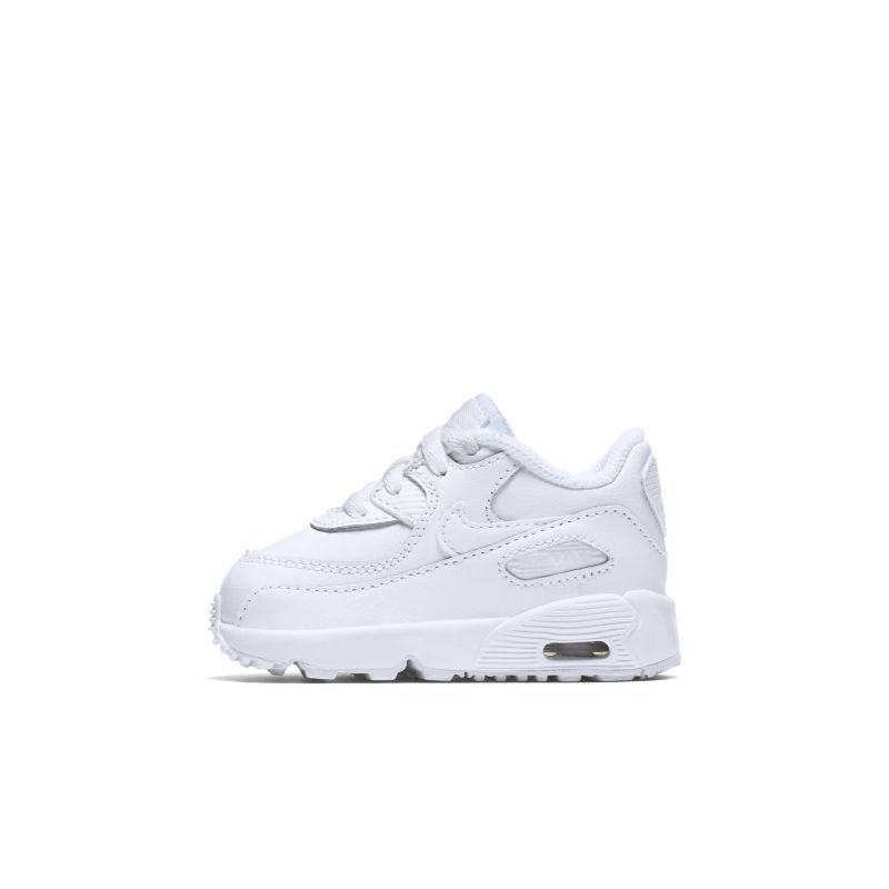 Nike Air Max 90 Leather Toddler Shoe - White