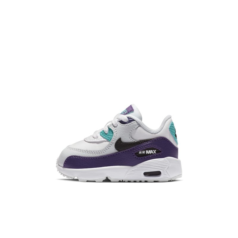 Nike Air Max 90 Leather Baby& Toddler Shoe - White