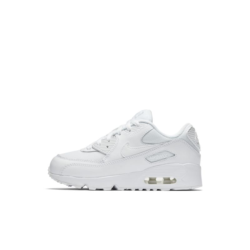 Nike Air Max 90 Mesh (10-2.5) Younger Kids' Shoe - White