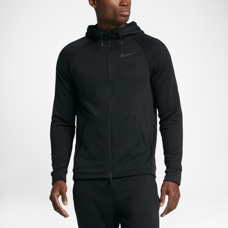 Nike Dri-FIT Training Men's Full-Zip Hoodie - Black