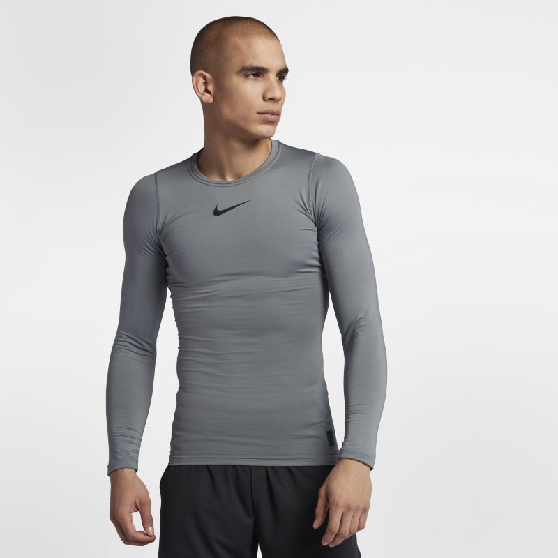 Nike Pro Warm Men's Long-Sleeve Training Top - Grey