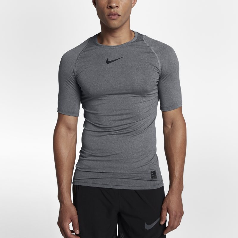 Nike Pro Men's Short-Sleeve Training Top - Grey