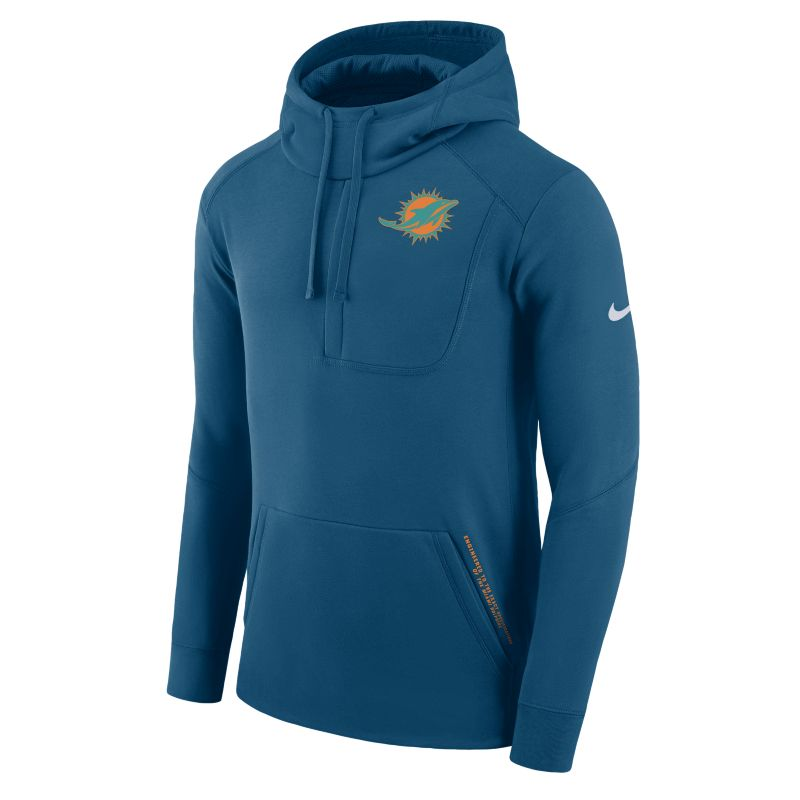 Nike Fly Fleece (NFL Dolphins) Men's Sweatshirt Hoodie - Blue