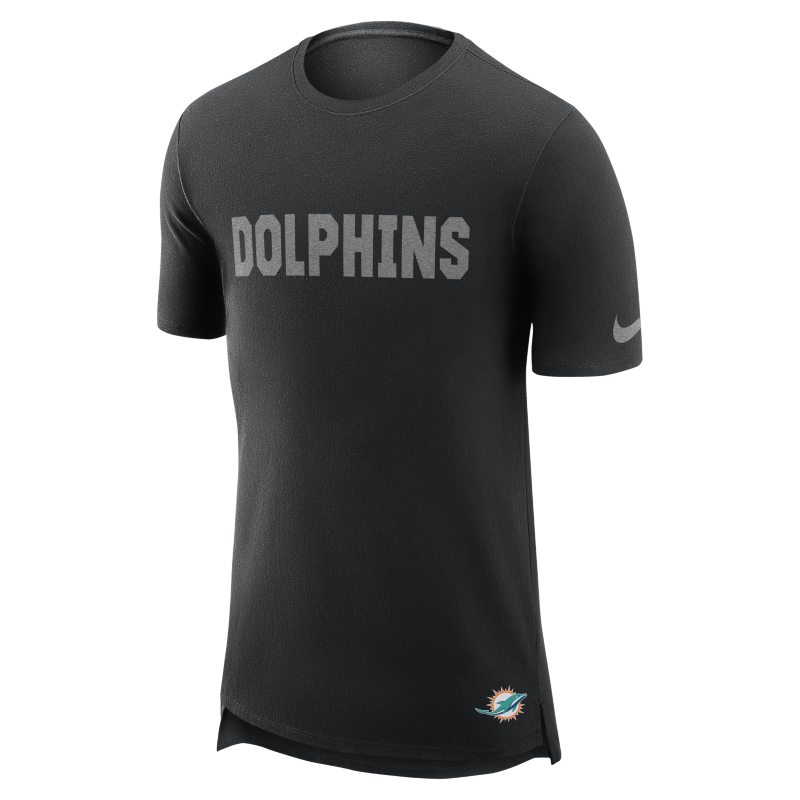 Nike Enzyme Droptail (NFL Dolphins) Men's T-Shirt - Black