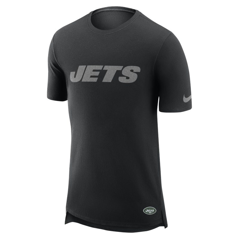 Nike Enzyme Droptail (NFL Jets) Men's T-Shirt - Black
