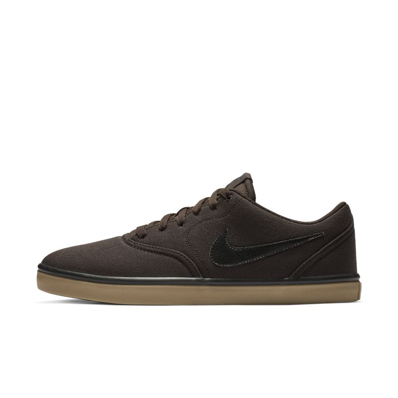Image of Scarpa da skateboard Nike SB Check Solarsoft Canvas - Uomo - Marrone