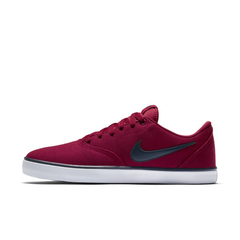 Image of Scarpa da skateboard Nike SB Check Solarsoft Canvas - Uomo - Red