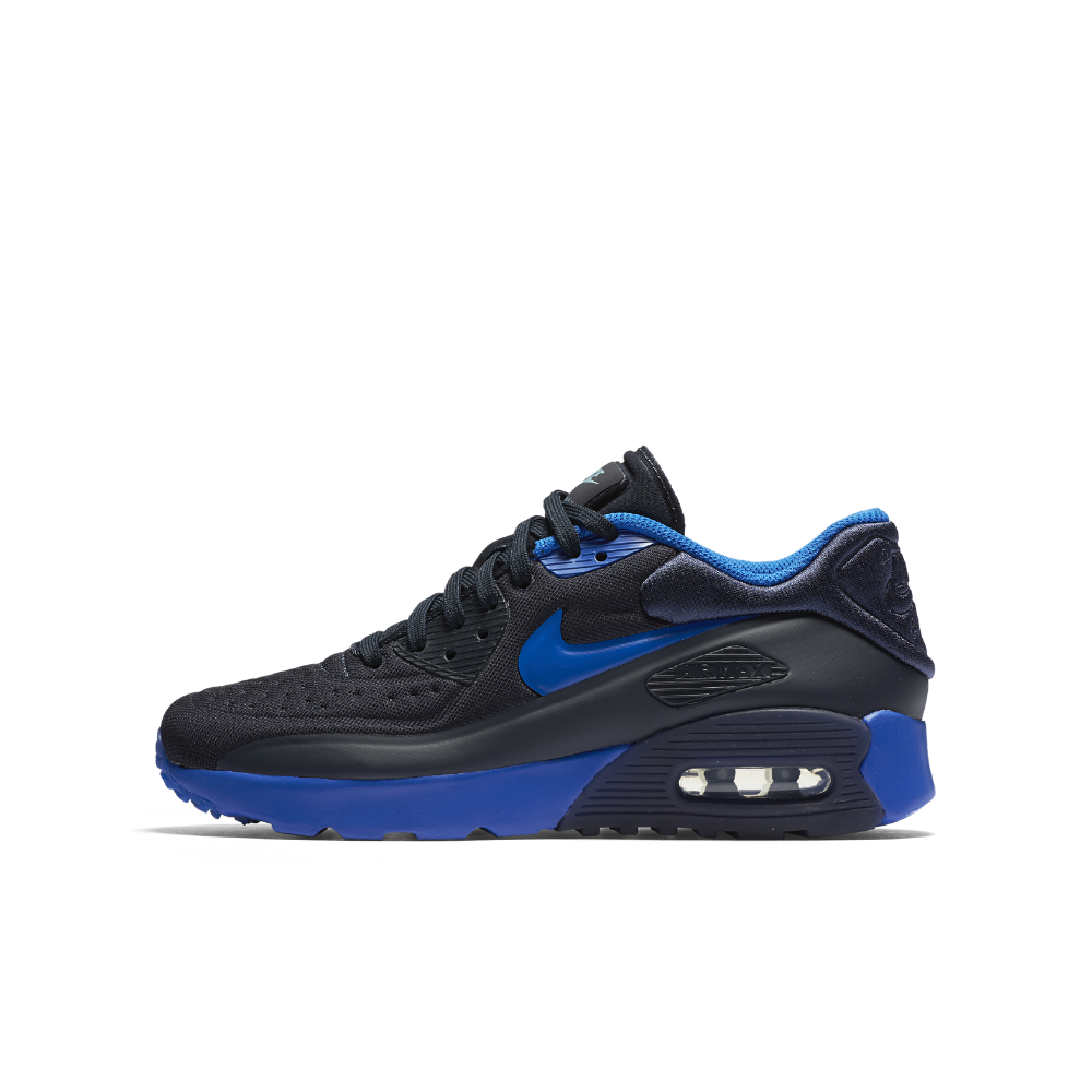 women nike air max 90 hyperfuse grey youth. Black Bedroom Furniture Sets. Home Design Ideas