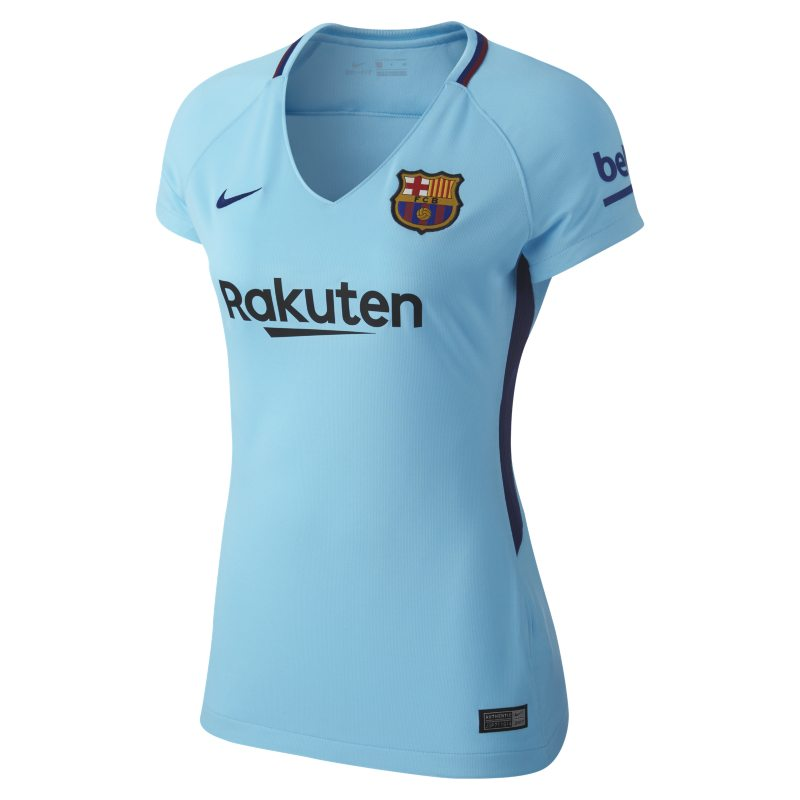 2017/18 FC Barcelona Stadium Away Women`s Football Shirt - Blue