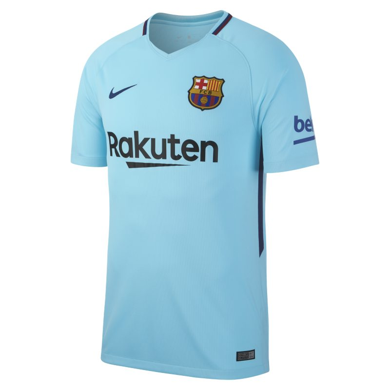 2017/18 FC Barcelona Stadium Away Men`s Football Shirt - Blue