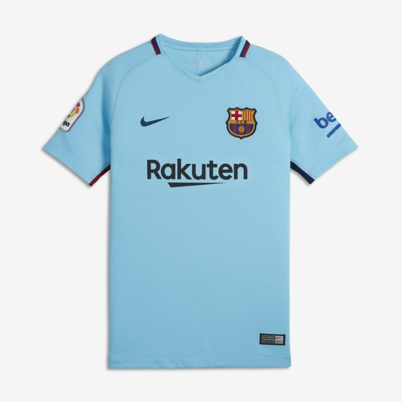 2017/18 FC Barcelona Stadium Away Older Kids`Football Shirt - Blue
