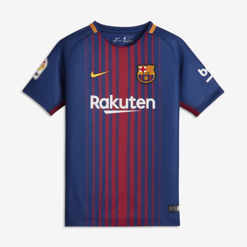 2017/18 FC Barcelona Home Older Kids'Football Shirt - Blue