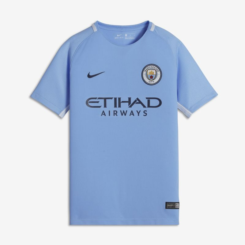 2017/18 Manchester City FC Stadium Home Older Kids'Football Shirt - Blue