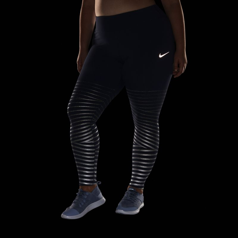 Nike Plus Size - Epic Lux Flash Women's Reflective Running Tights - Blue