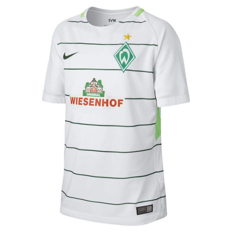 2017/18 Werder Bremen Stadium Away Older Kids'Football Shirt - White