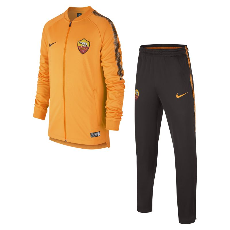 A.S. Roma Dri-FIT Squad Older Kids'Football Track Suit - Orange