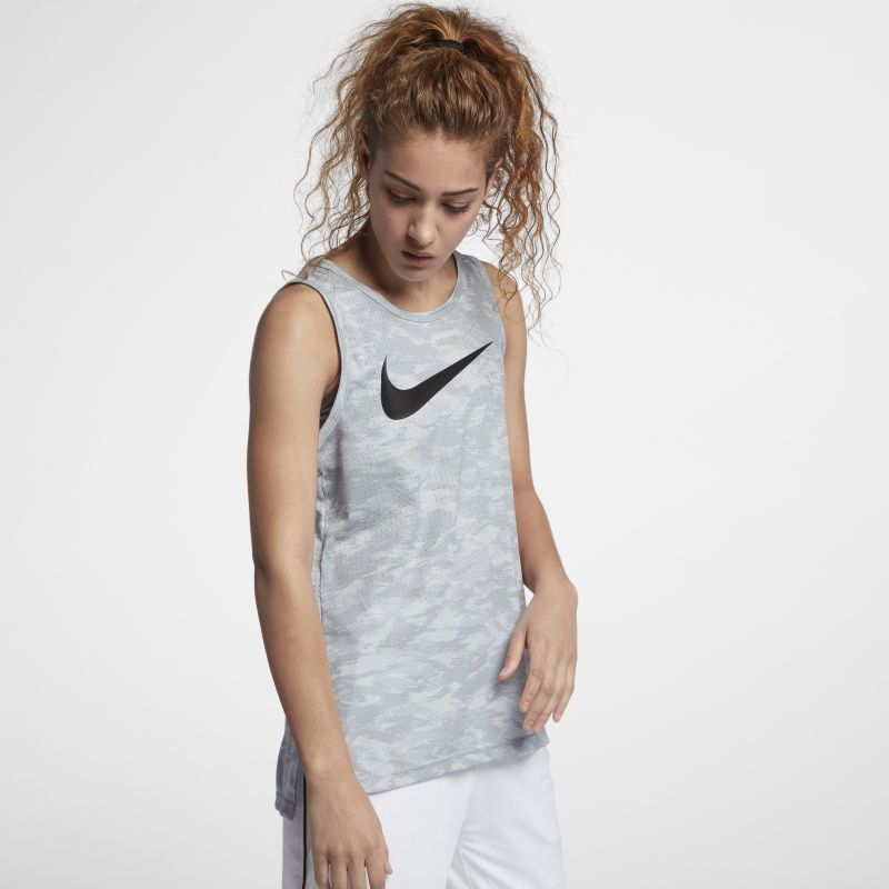 Nike Dry Elite Women's Basketball Tank - Silver