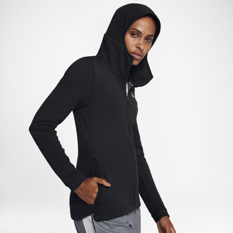 Nike Dri-FIT Showtime Women's Basketball Full-Zip Hoodie - Black