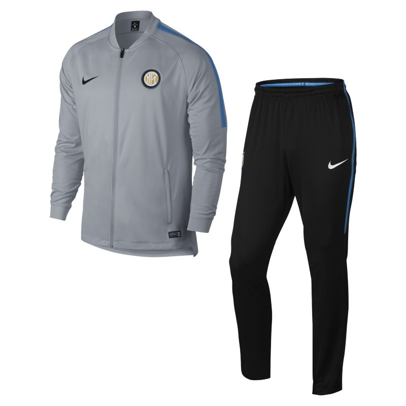Inter Milan Dri-FIT Squad Men's Football Track Suit - Grey