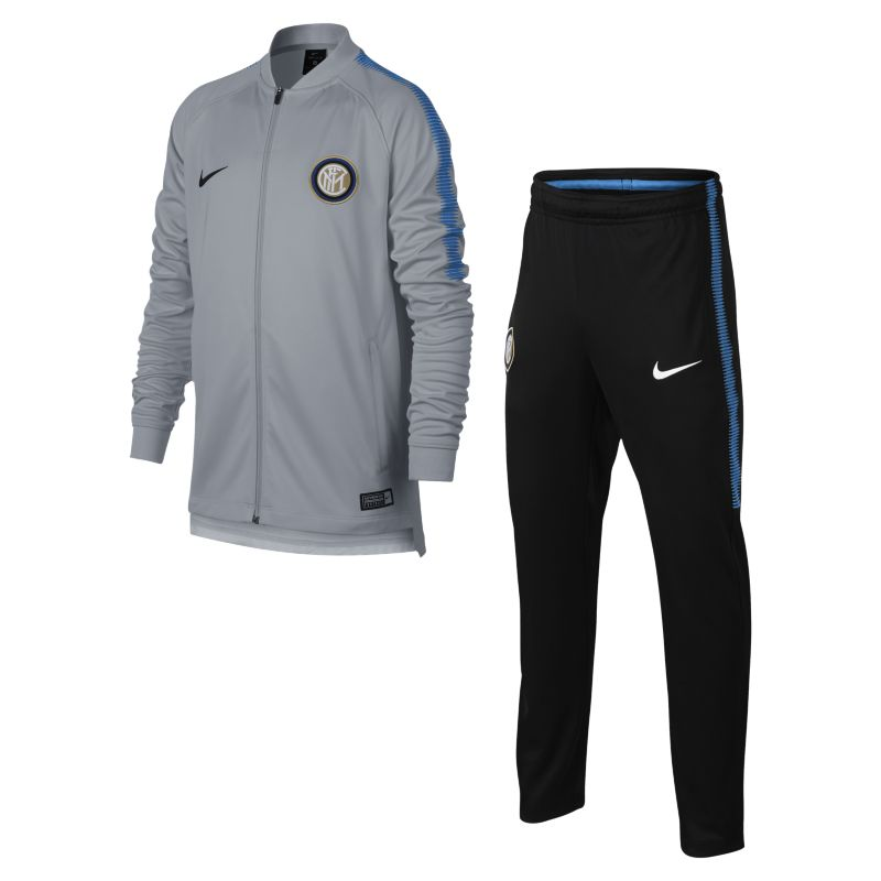 Inter Milan Dri-FIT Squad Older Kids'Football Track Suit - Grey