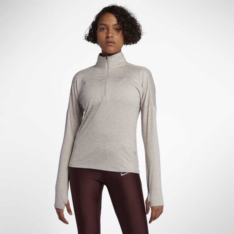 Nike Dri-FIT Element Women's Long-Sleeve Running Half-Zip Top - Cream