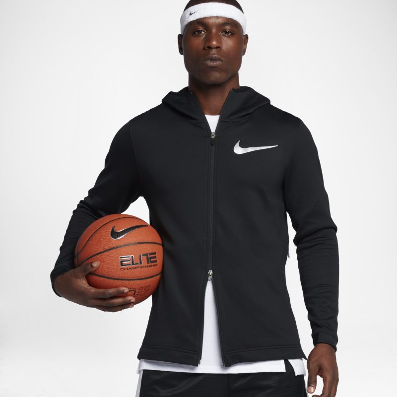 Nike Therma Flex Showtime Men's Basketball Full-Zip Hoodie - Black