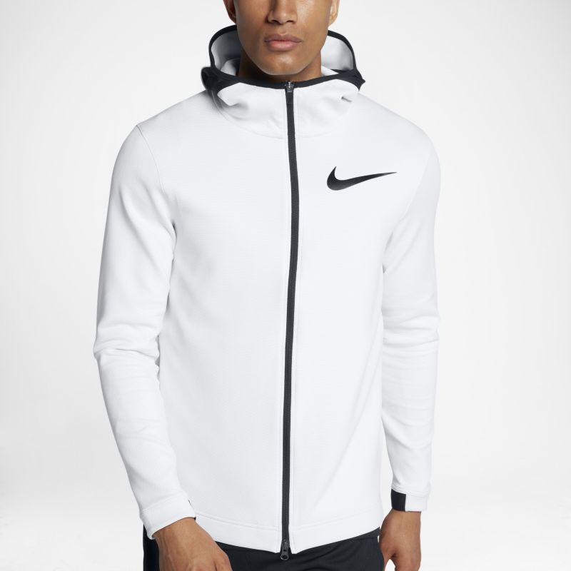 Nike Therma Flex Showtime Men's Basketball Full-Zip Hoodie - White