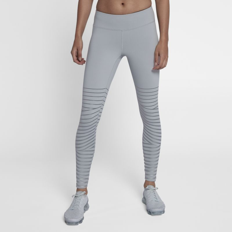 """Nike Epic Lux Flash Women's 27.5""""(70cm approx.) Reflective Running Tights - Grey"""