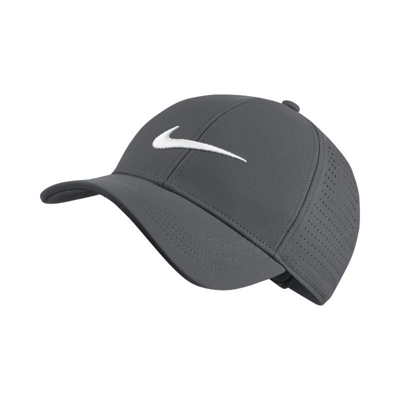 Nike Legacy 91 Perforated Adjustable Golf Hat - Grey